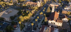 Riverside street scene