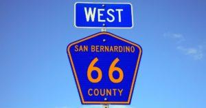 san bernardino highway sign